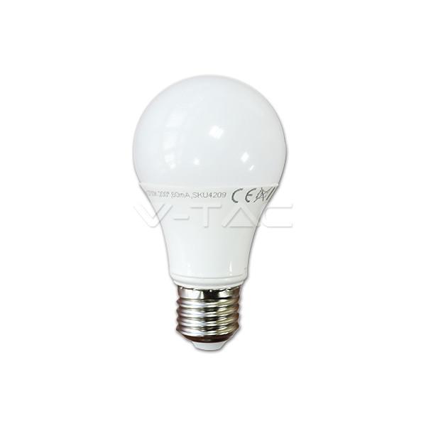 Bec cu LED-uri - 10W E27 A60 VT-1853 ALB RECE