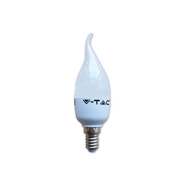 Bec LED - 6W E14 Lumanare flacara Alb Rece