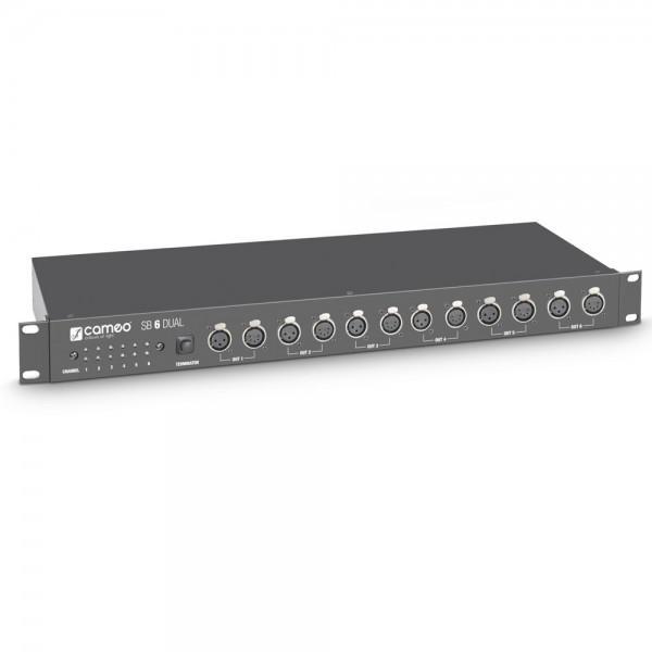 Cameo SB 6 DUAL - DMX splitter / booster 6 canale (3-pini si 5-pini)