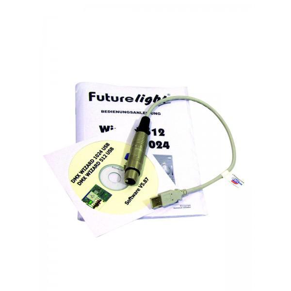 FUTURELIGHT Wizard-512 USB DMX software + interface