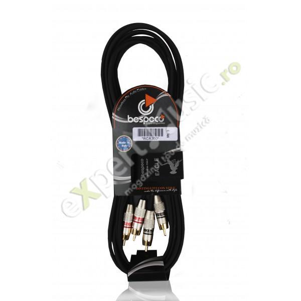CABLU Audio Bespeco RCR300 3M 2xRCA - 2xRCA
