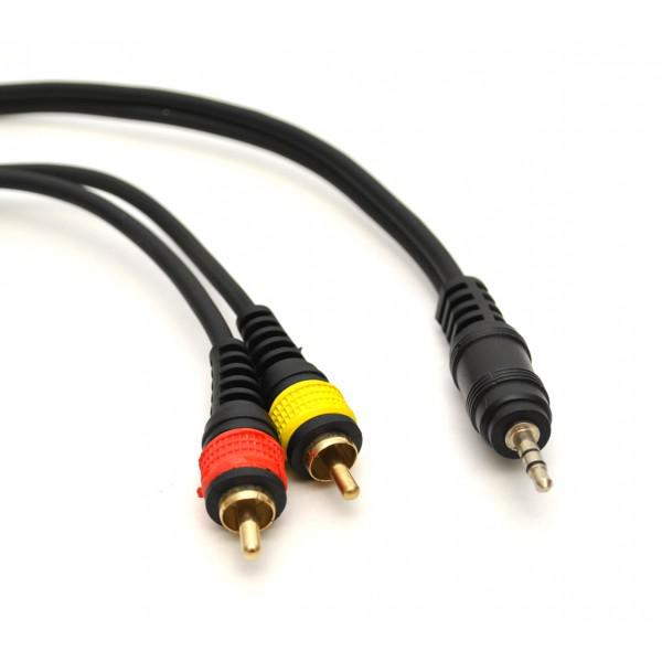 Cablu profesional JACK (3,5mm) - 2xRCA - 3m