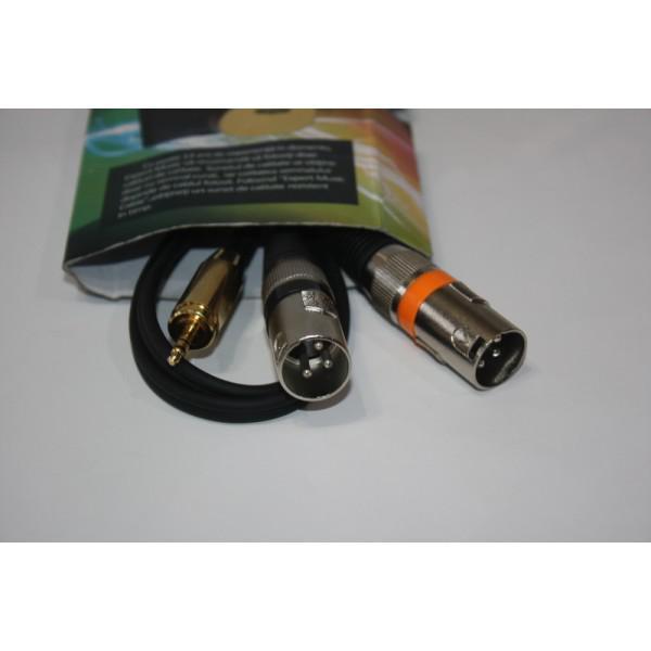 Cablu Jack 3.5mm x 2XLR Tata 2,5m
