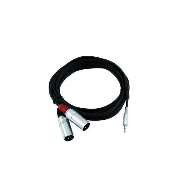 Cablu Omnitronic AC40 Jack 3,5mm x 2 XLR tata 1,5m