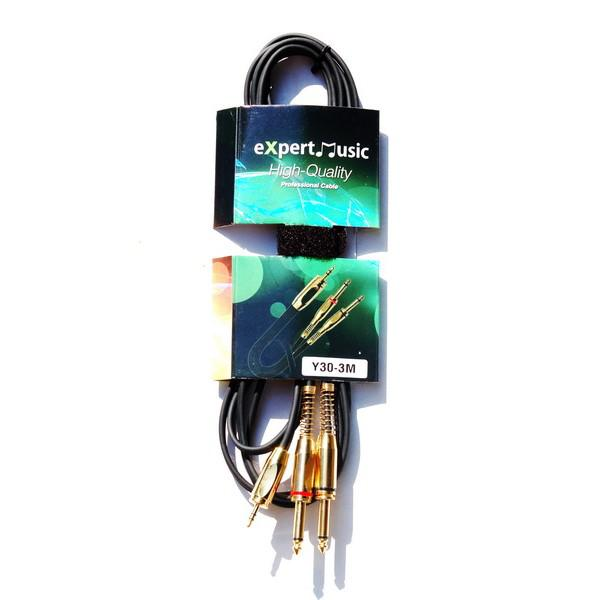 Cablu Jack  3.5mm - 2 x Jack 6mm 3m