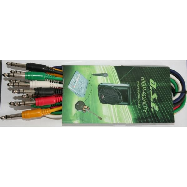 Set 6 Cabluri Jack - Jack (colorate), 0.5m