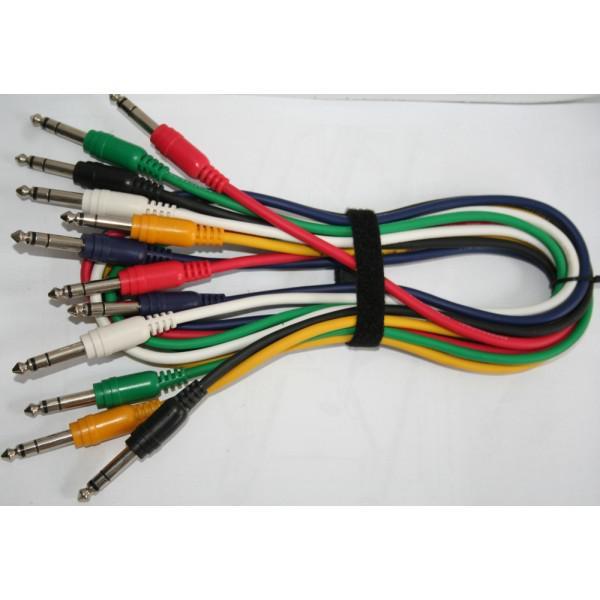 Set 6 Cabluri Jack - Jack (colorate), 0.5m - Set 6 Cabluri Jack - Jack (colorate), 0.5m