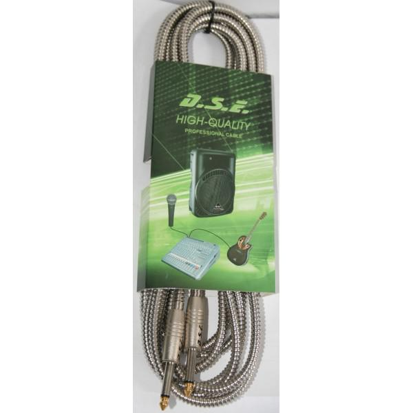 Cablu Jack-Jack metalic 1m