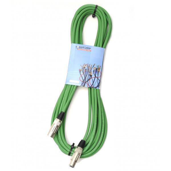 Cablu XLR-XLR Verde 1M eXpertCable