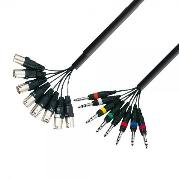 Multicore AdamHall 8xXLR(tata) 8xJack(6,3mm) 3m