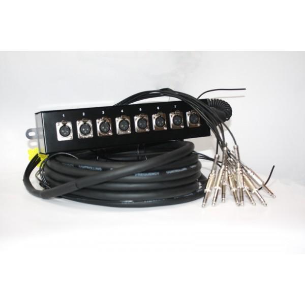 Cablu Multicore Jack - XLR 10m