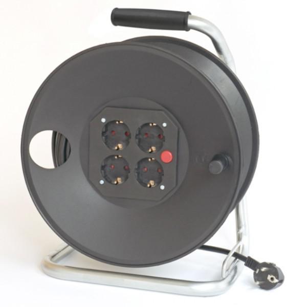 Tambur cablu alimentare 50m - 3*1.5mm