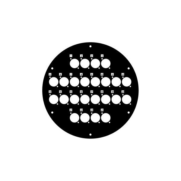 Panou frontal pentru rola de cablu cu 24 gaura 70226D24