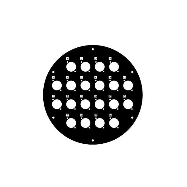 Panou frontal pentru rola de cablu cu 20 gaura 70226D20