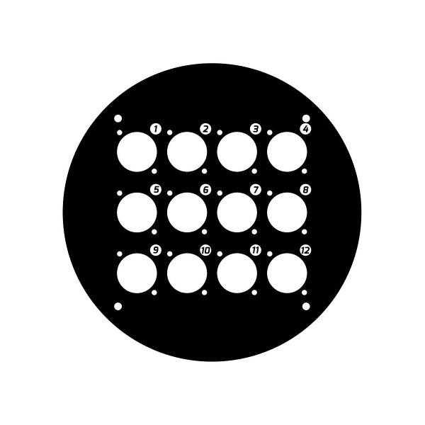 Panou frontal pentru rola de cablu cu 12 gauri 70225D12