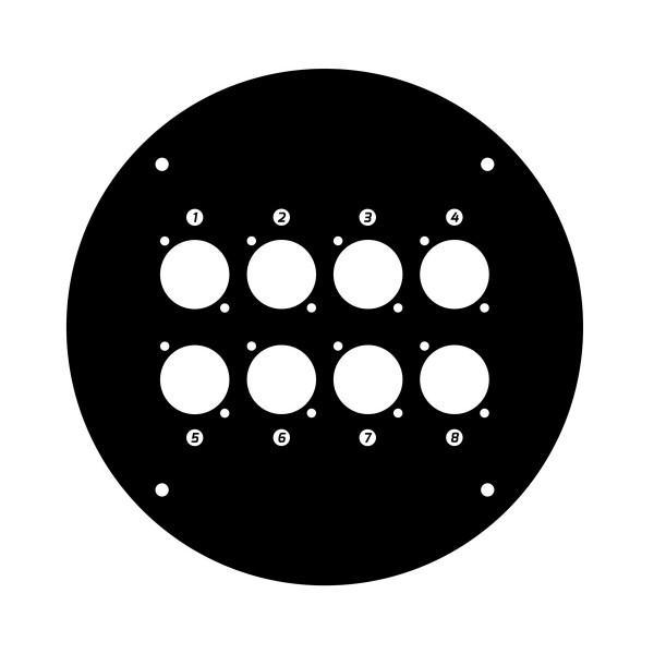 Panou frontal pentru rola de cablu cu 8 gauri 70225D8
