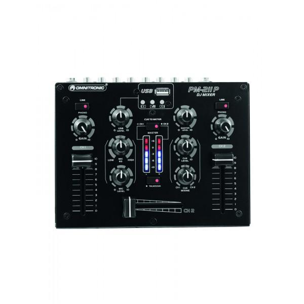 Mixer Dj Omnitronic PM-211P USB - Mixer Dj Omnitronic PM-211P USB
