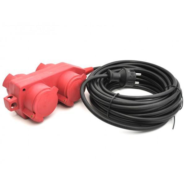 Cablu alimentare cu 4 prize - 5m
