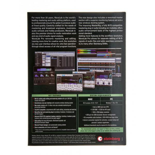 Steinberg Wavelab Pro 9 - Steinberg Wavelab Pro 9