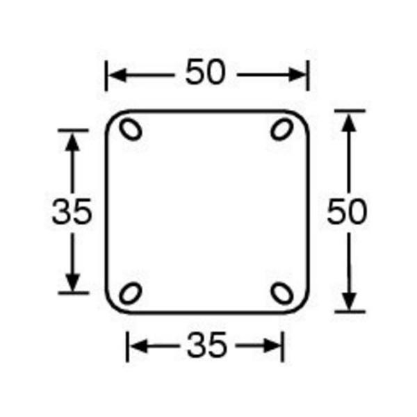 Rola Pivotanta Adam Hall 50 mm cu roata gri cu frana - Rola Pivotanta Adam Hall 50 mm cu roata gri cu frana