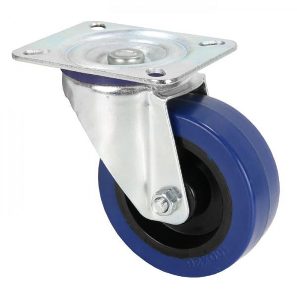 Rola Pivotanta Adam Hall 100 mm - roata albastra