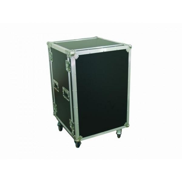Rack Amplificatoare Anti-Shock 16U (Roti+Capace)