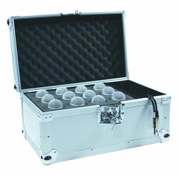 Case de transport pentru 12 microfoane