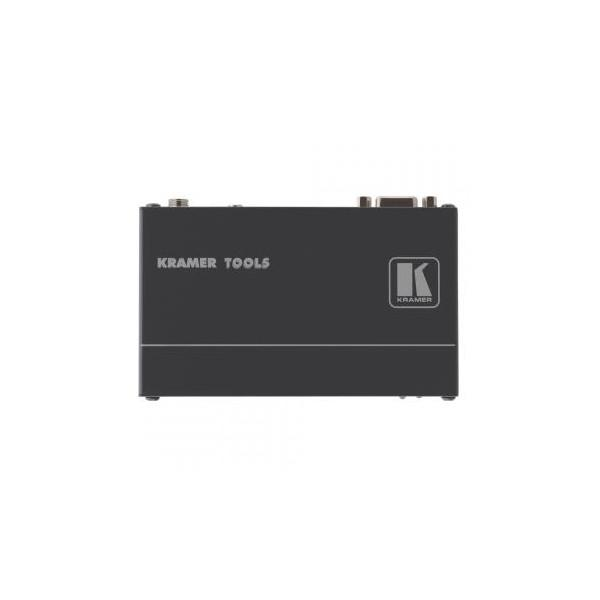 KRAMER, VGA + audio transmi╚ø─âtor, IN: Muf─â de 3,5 mm (audio) / Sub-D 15 HD (VGA)   OUT: RJ45