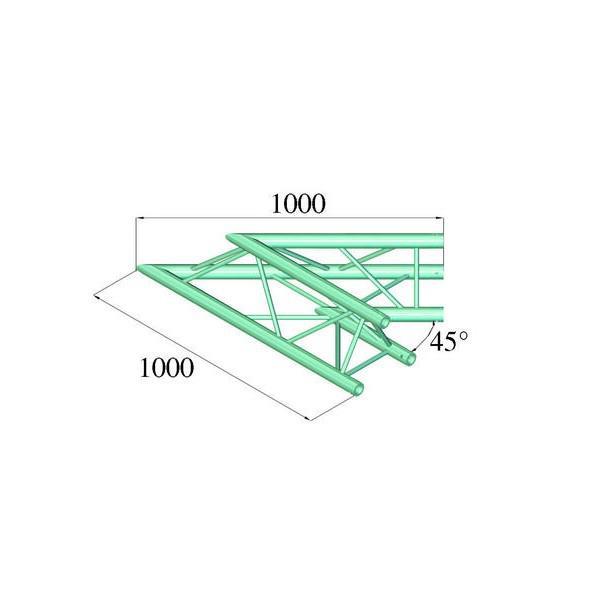 ALUTRUSS TRILOCK 6082AC-19 - Unghi 45┬░