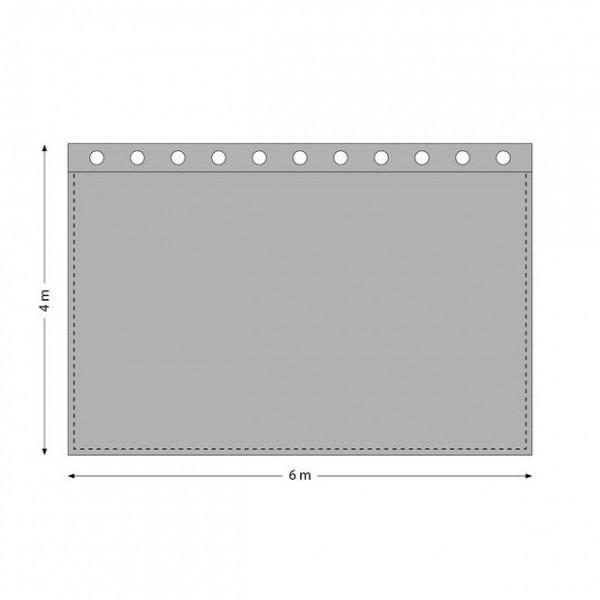 Stage Curtain 6 x 4m - Negru - Stage Curtain 6 x 4m - Negru