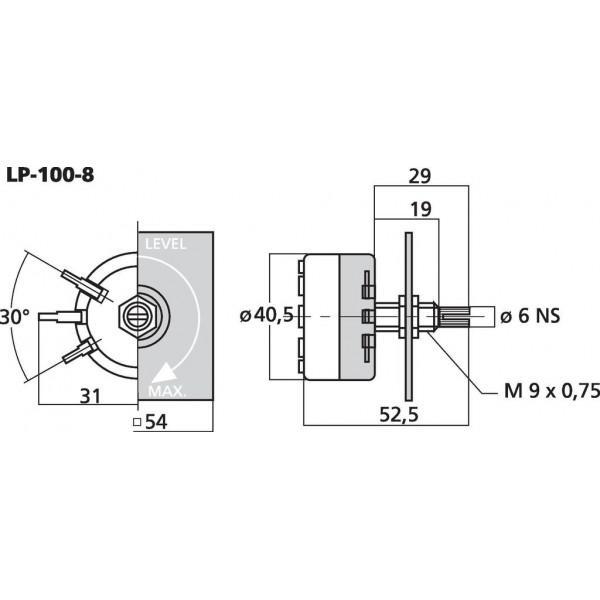 MONACOR LP-100-8 Potentiometru - MONACOR LP-100-8 Potentiometru