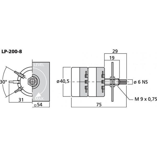 MONACOR LP-200-8 Potentiometru - MONACOR LP-200-8 Potentiometru