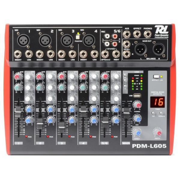 Mixer 6 Canale PDM-L605 MP3/ECHO USB - Mixer 6 Canale PDM-L605 MP3/ECHO USB