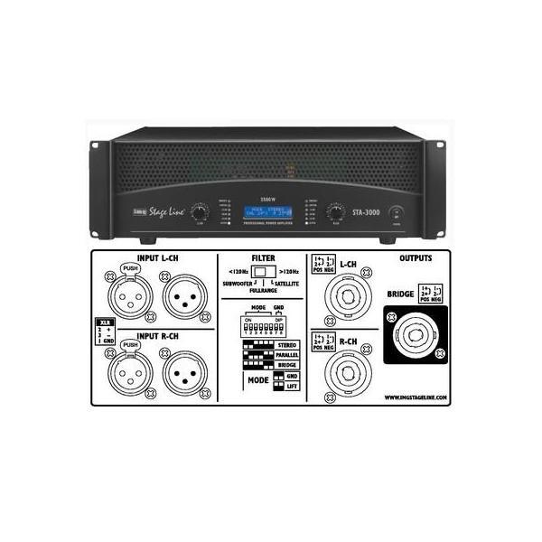 AMPLIFICATOR StageLine STA-3000 - AMPLIFICATOR StageLine STA-3000