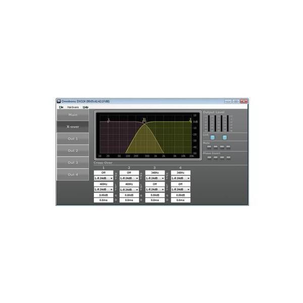 Omnitronic DXO-23E Crossover digital - Omnitronic DXO-23E Crossover digital