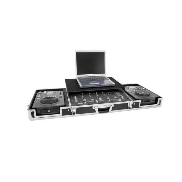 Case Roadinger DS-1 pentru 2 CDJ + Mixer + Laptop - Case Roadinger DS-1 pentru 2 CDJ + Mixer + Laptop
