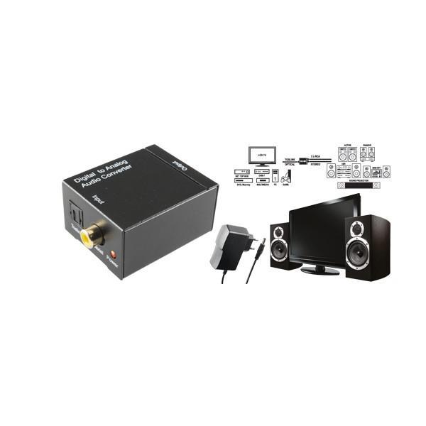 Transformator audio digital-analog, cu cablu optic