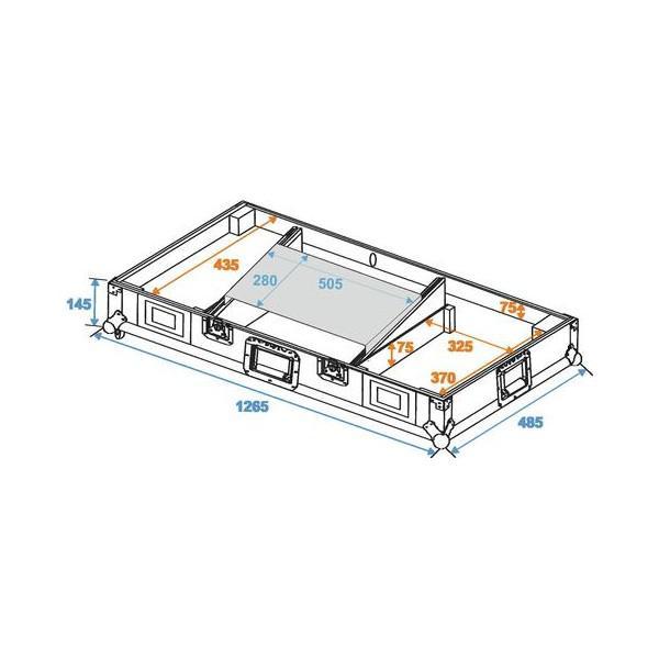 Case Roadinger LS-1 pentru 2 CDJ + Mixer + Laptop - Case Roadinger LS-1 pentru 2 CDJ + Mixer + Laptop
