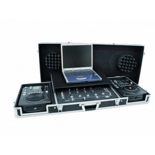 Case De Transport Pentru 2 Cd-playere + Mixer Cu Suport Pentru Laptop,culoare neagra - Case De Transport Pentru 2 Cd-playere + Mixer Cu Suport Pentru Laptop,culoare neagra