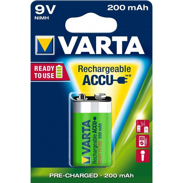 Acumulatori Varta 9V 6F22 200 mAh / blister 1 buc