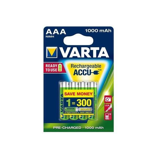 Acumulatori Varta AAA 1000 mAh / blister 4 buc