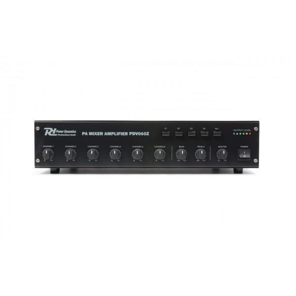 Amplificator PDV060Z, 60W/100V, 4 zone