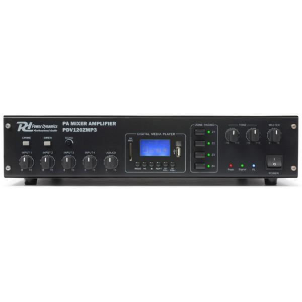 Amplificator PDV120ZMP3 120W/100V 4-Zone