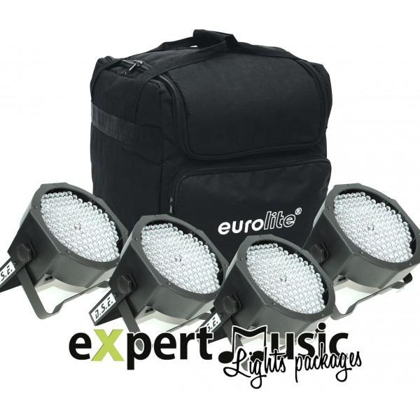 Set 4 LED FLAT PAR - RGBW