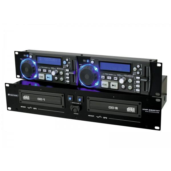 OMNITRONIC XMP-2800MT dual CD / MP3 player