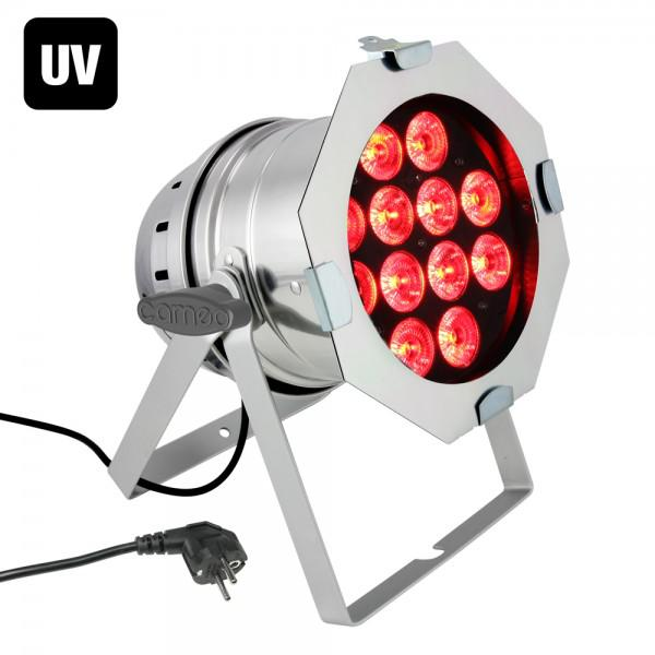 Cameo PAR 64 CAN RGBWA+UV - 12 x 10W - Silver
