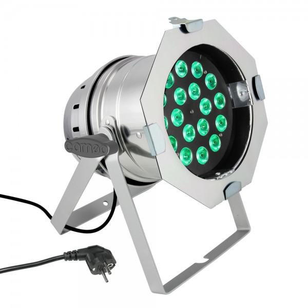 Cameo Led PAR 64 CAN - 18 x 8W RGBW - Silver