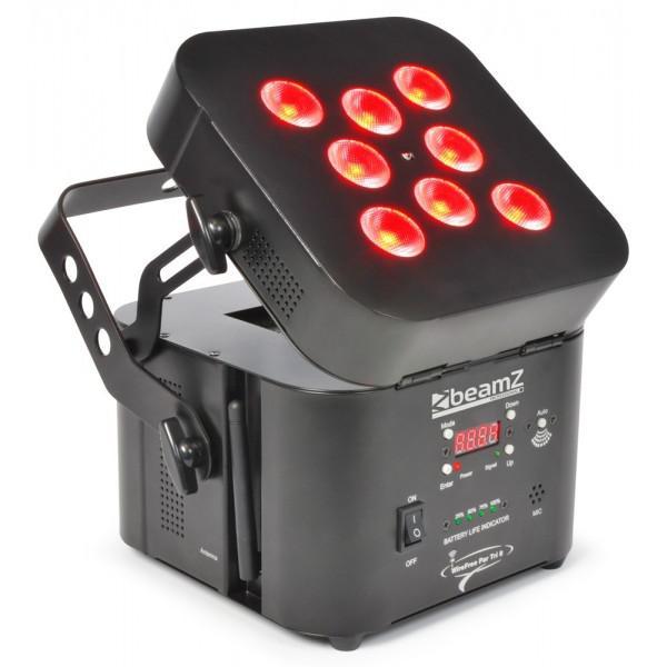 PAR cu Led BeamZ Wi-Par 8x 3W Tri-color LEDs Battery 2.4GHz DMX