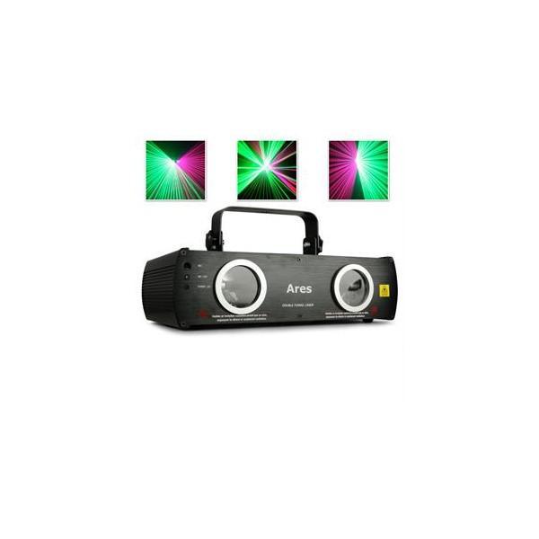 Laser Ares cu 2 capuri verde/violet